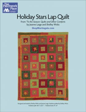 Martingale - Holiday Stars Lap Quilt ePattern
