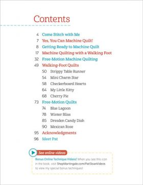 Martingale - Pat Sloan's Teach Me to Machine Quilt (Print version + eBook bundle