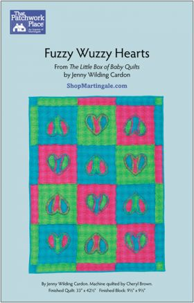 Martingale - Fuzzy Wuzzy Hearts Quilt ePattern