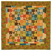 Scrappy Hunter's Star quilt