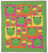 Flying Frogs quilt