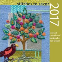 Stitches to Savor Wall-Art Calendar 2017